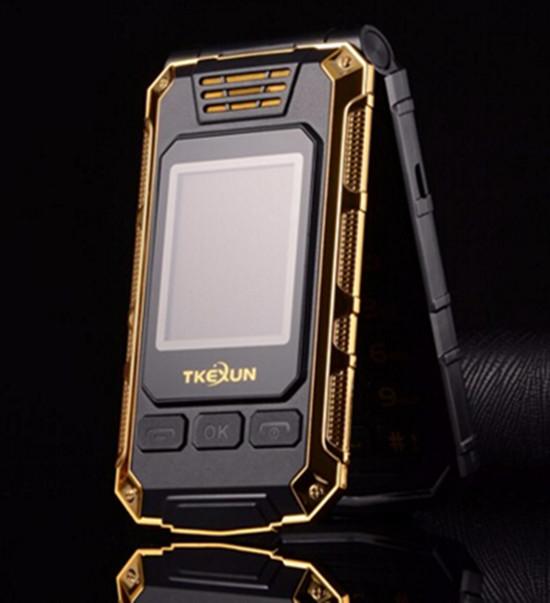 Flip Double dual Screen Dual SIM Card 2800mAh long standby touch screen FM mobile Phone TKEXUN G5 cell phone(China (Mainland))
