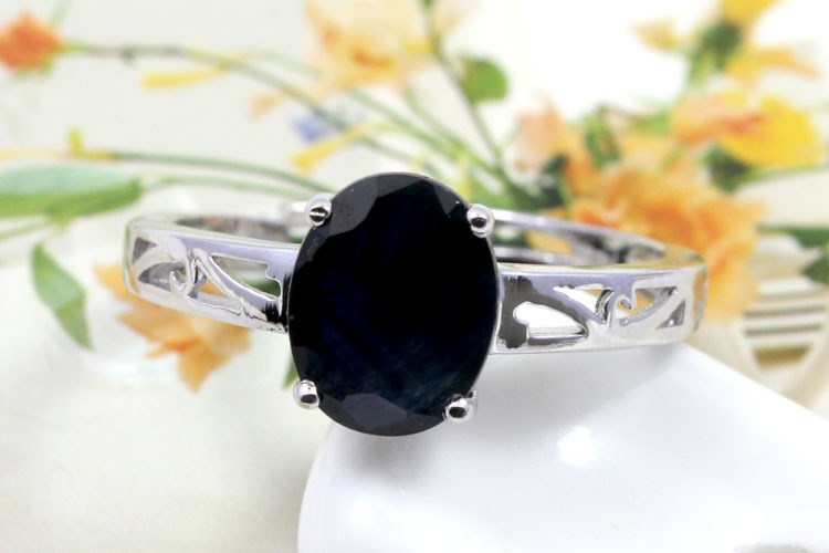 Qi Xuan_Natural Sapphire Simple Ring_Fashion Ring with S925 Sliver Real _Manufacturer Directly Sales<br><br>Aliexpress