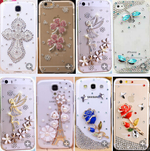 New Luxury Rhinestone Phone Case Cover For Samsung Galaxy S6 Edge Plus Galaxy Note 5 Cover Diamond Hard Crystal Phone Cover(China (Mainland))