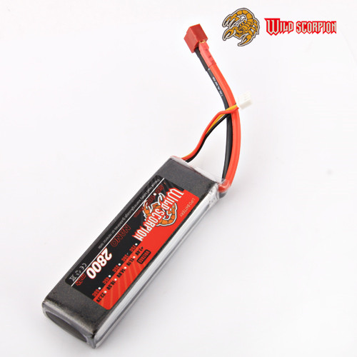wild scorpion 2800mah 2s7.4V 30C Max 60C remote control lipo battery lipo batteria for rc car Trx airplane helicopter 450 450L(China (Mainland))