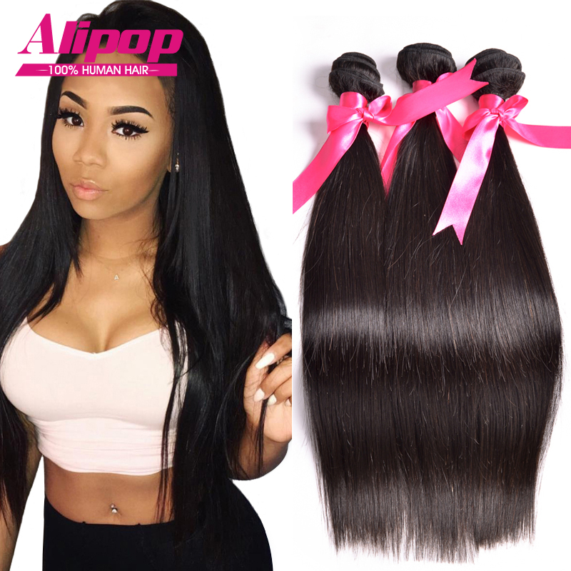 8A Unprocessed Peruvian Virgin Hair Straight 3 Bundles ...