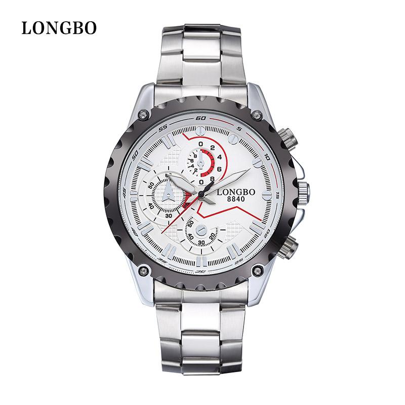 LONGBO Watch male casual sports mens watch decoration quartz mens watch waterproof commercial steel sheet 8840(China (Mainland))