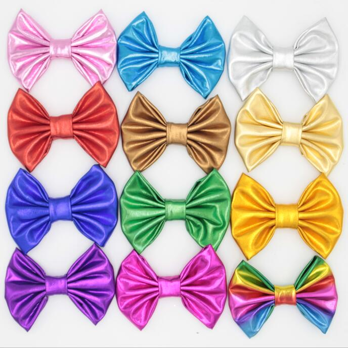 "10pcs/lot 4"" Messy Metallic Bows (NO Clips) For Baby Headband,Children Hair Bow, Kids Hair Accessories ePacket/CAPA Free(China (Mainland))"