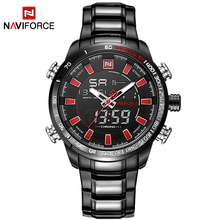 Buy 2017 Luxury Brand NAVIFORCE Men's Quartz Digital Watches Men Sports Clock Army Military Full Steel Wrist Watch Relogio Masculino for $22.00 in AliExpress store