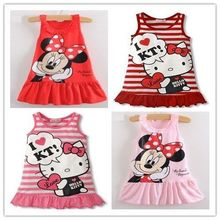Free Shipping New 2015 Kids baby girl dress cute cartoon children Dress baby Clothes,lovely girls dress,vestidos infantis(China (Mainland))