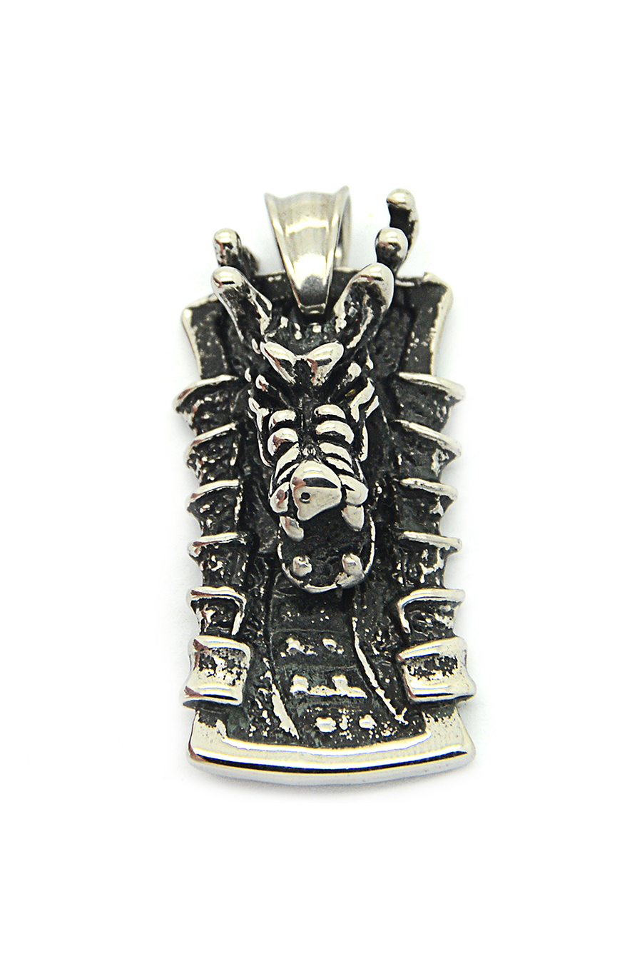 2015 Charm Band Classic Vintage Dragon Staless Steel Pendant Men,Fine Jewelry Silver Black - ironsoul Store store