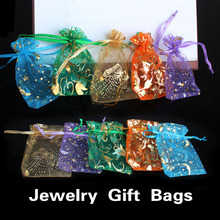 Free Shipping 50 pcs Organza Jewelry Candy Pendent Mixed Color Mini Gift Pouch Bags Wedding