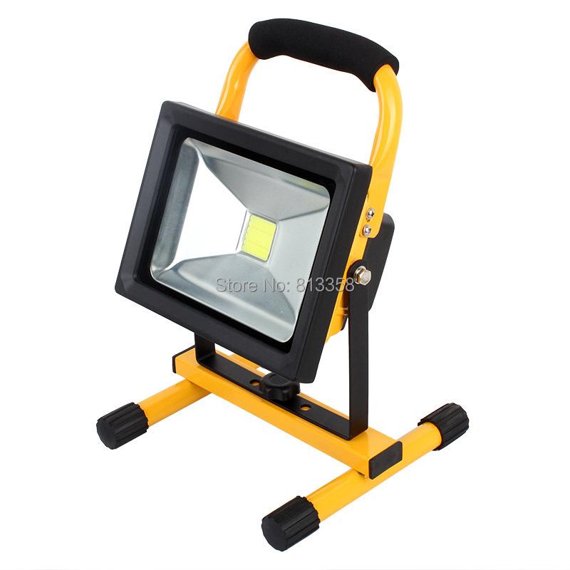 h06 20w portable rechargeable cordless led work light flood light. Black Bedroom Furniture Sets. Home Design Ideas