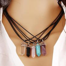 Hexagonal pendant Chains Necklace For Women Fine Jewelry Fashion N9