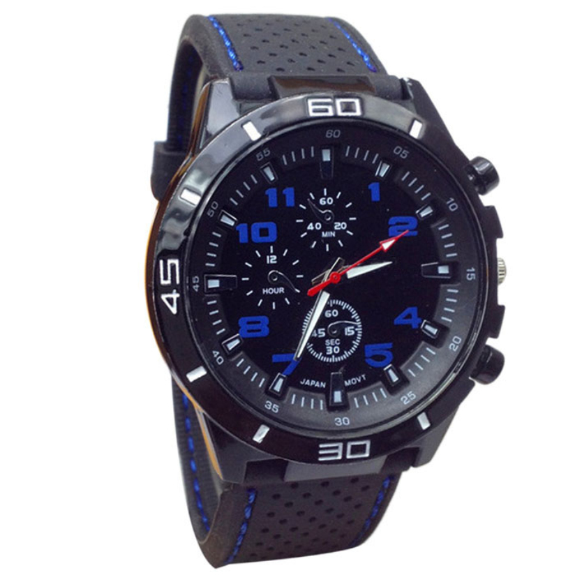 Hot Marketing 2015 Quartz Watch Men Military Watches Sport Wristwatch Silicone Fashion Hours June9