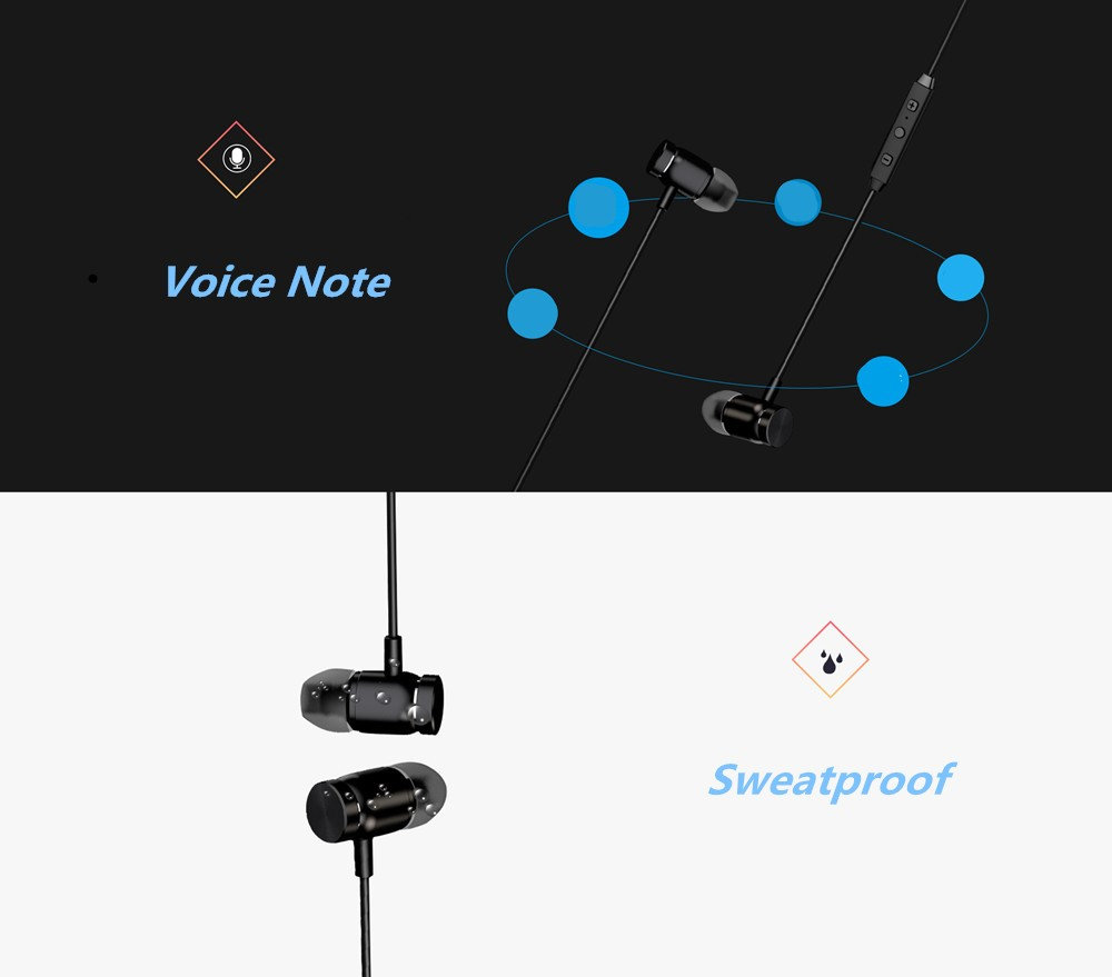 Magnetic Sport Stereo Wireless Headset fone de ouvido Bluetooth Earphone Handsfree Headphones for iPhone 7 Samsung