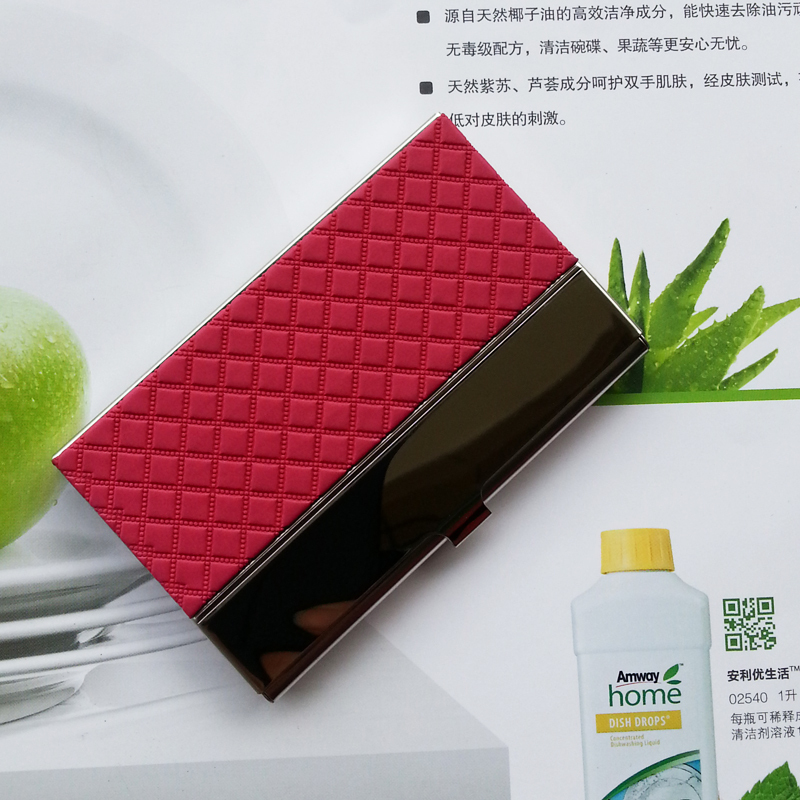 Factory Sale Stainless Steel + PU leather Name Card Case ID Holder Business Hold ,Promotion Gift,business cardcase - KAYO Bag ( and OEM ! store)