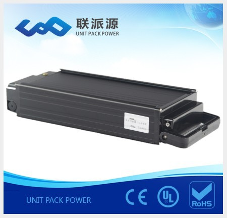 free shipping Rear rack 48v 12 electric bicycle battery +charger+BMS(China (Mainland))