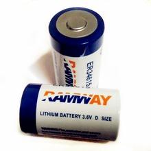 2 шт./лот ER34615 3.6 В 19000 мАч аккумулятор литий тионилхлорид аккумулятор 19Ah