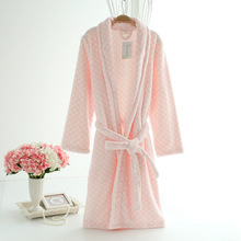 New sale warm winter robes women free shipping thicken flannel solid color soft comfortable long-sleeved ladies sleep lounge(China (Mainland))