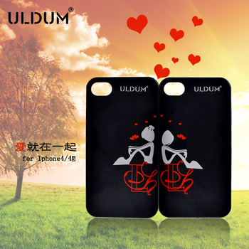 For iphone 4 4s lovers phone case mobile phone case cell phone protective case ultra-thin scrub