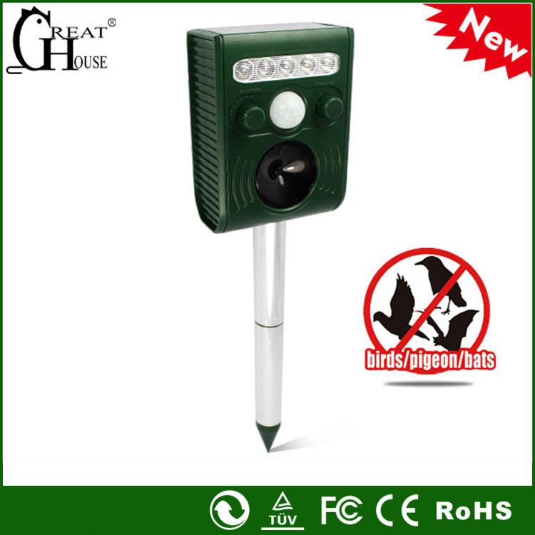 Pestbye Solar Garden Ultra Sonic Cat Fox Pest Repeller Scarer Deterrent - LED lamp solar controller store