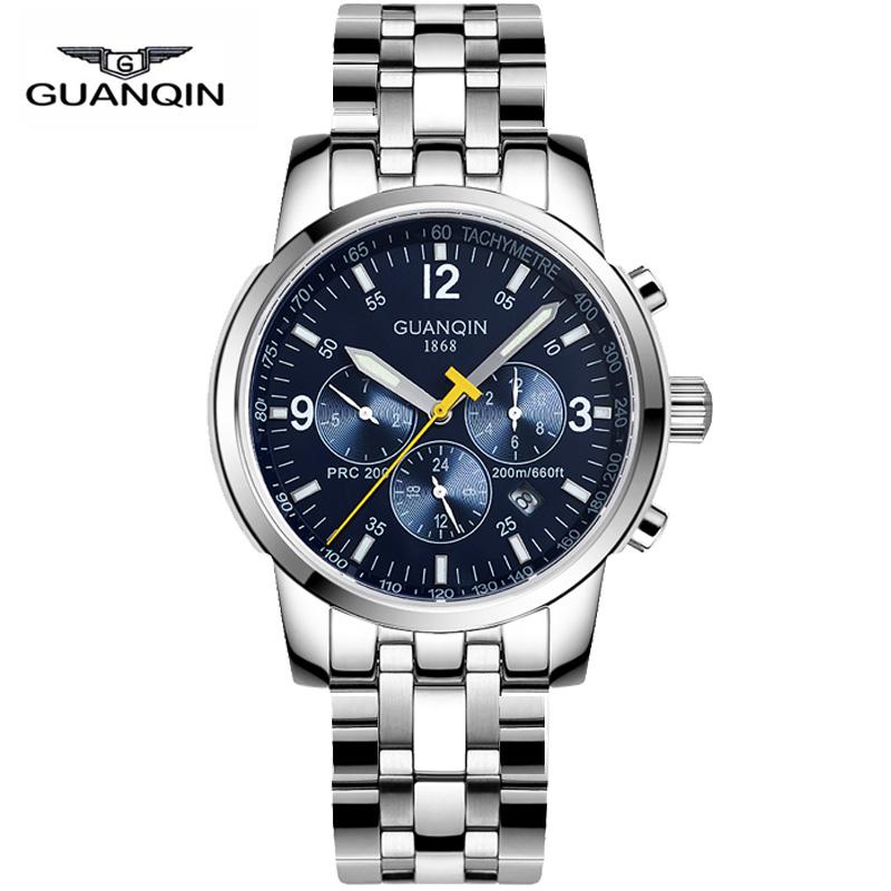 Watches Men Brand Original GUANQIN Mechanical Watch Fashion casual business reloj hombre sport Wristwatch relogio masculino50009<br><br>Aliexpress