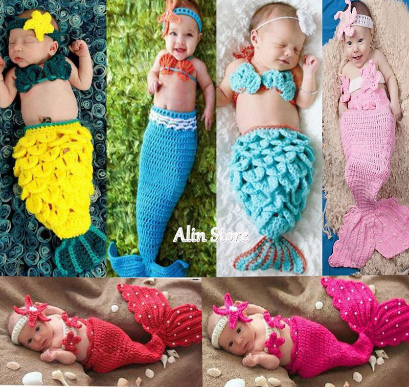 Knitting Pattern For Baby Mermaid Outfit : Popular Infant Mermaid Costume-Buy Cheap Infant Mermaid Costume lots from Chi...