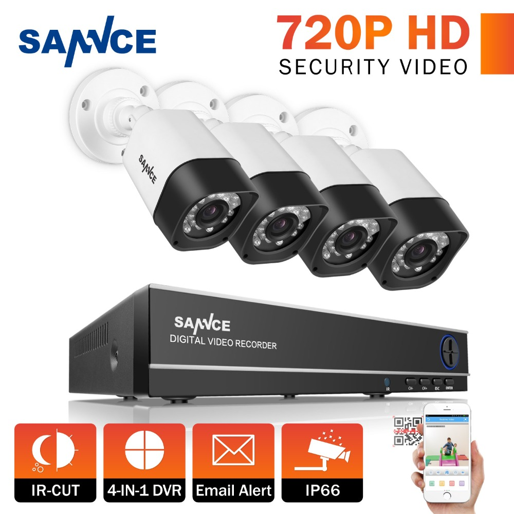 SANNCE Full HD 8CH AHD 1.3MP Home Outdoor CCTV System Kit 8 Channel Array Surveillance Camera 720P Security System Kit(China (Mainland))