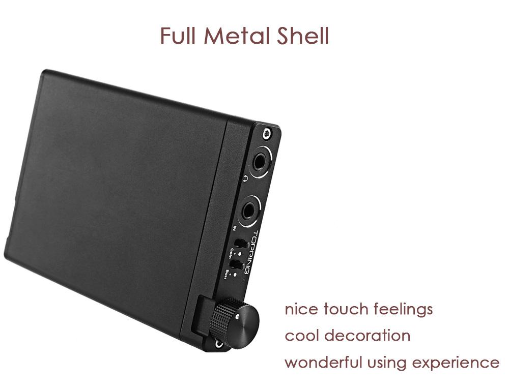 TOPPING NX3 Portable Earphone USB DAC Headphone Amplifier HiFi Stereo Audio Amplifier Amp TPA6120A2 Black / Silver