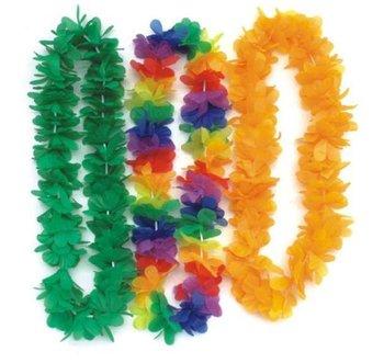 10pcs Party Christmas Supplies Hawaiian Flower Lei Garland Hawaii Wreath Cheerleading Products Hawaii Silk Necklace HH0029