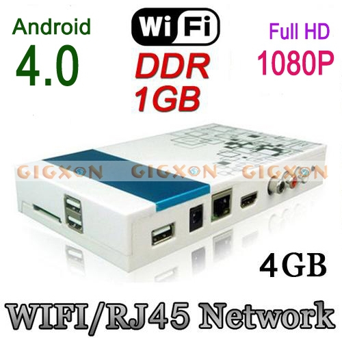 Android 4.0 1080P Full HD Smart TV BOX Network Google Media Player WiFi HDMI 4GB<br><br>Aliexpress