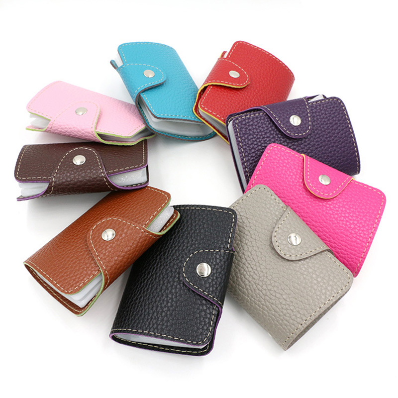 New High Quality Credit Card Holder Wallet 26 Slots Litchi Grain Business Card Bag Bank Cards Holders PU Leather For Men Women<br><br>Aliexpress