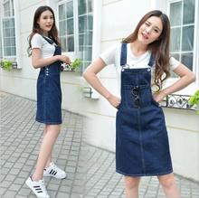 Buy 2017 summer new Fashion casual brand sleeveless high waist knee length female women girls jeans Denim dress clothing clothes for $11.60 in AliExpress store