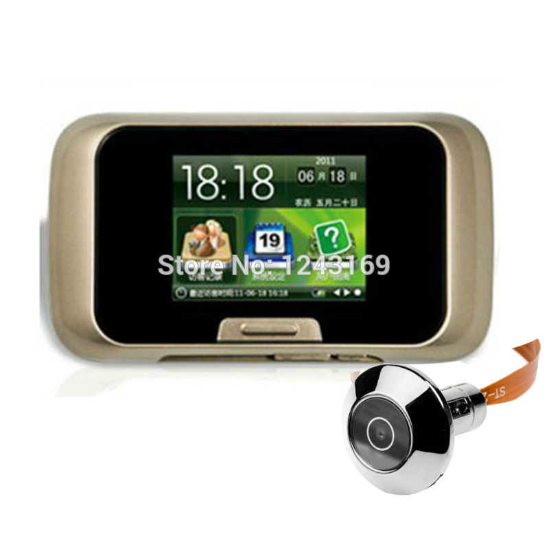 """Newest 2.8"""" LCD Display Digital Peephole Door Viewer Camera with Traditional Peephole, Photo and Video Function CN096-SZ(China (Mainland))"""