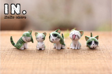 Micro fairy garden miniature animals kawaii anime mini Cheese cats model Action Figure Toys terrariums DIY accessories ornaments