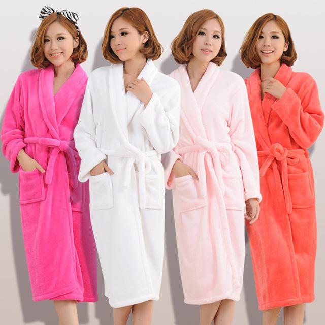 2015 осень зима халаты для женщин мужчины дамская с длинным рукавом фланель халат ...