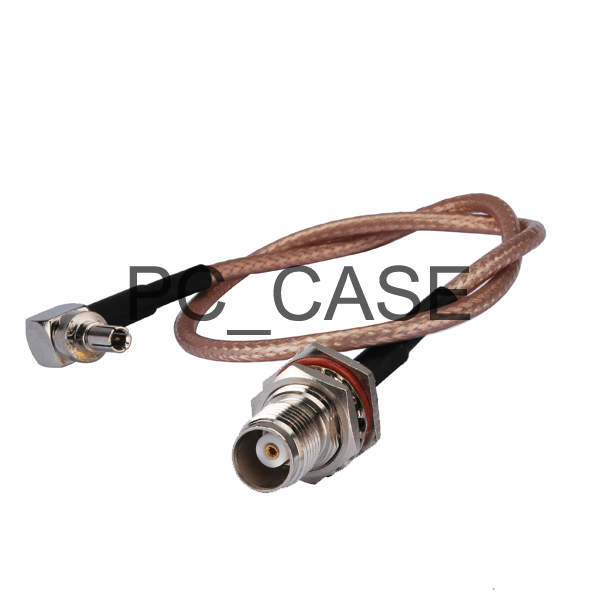 6in RF electrical wire coaxial cable connector TNC female bulkhead O-ring straight to CRC9 male right angle pigtail RG316 15cm(China (Mainland))