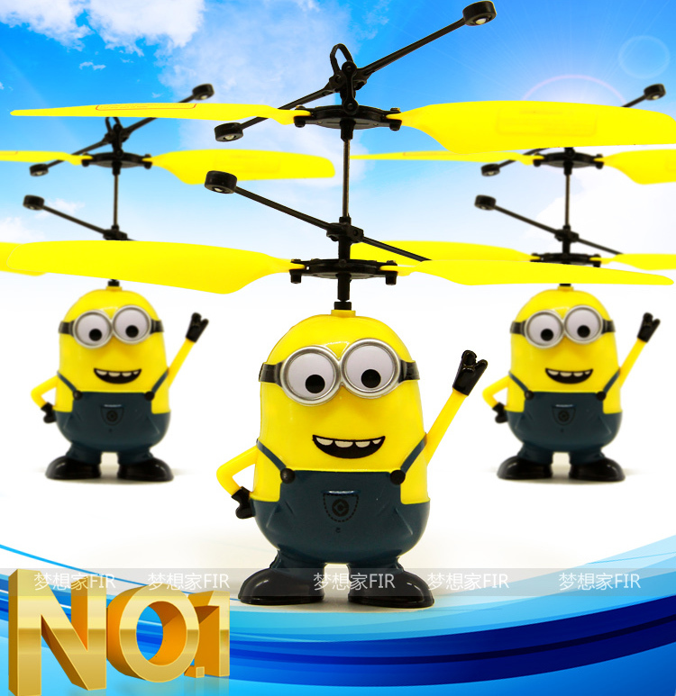 Despicable Me RC Helicopter Flying Minion Shatter Resistant Remote Control Aircraft Kids Toy(China (Mainland))