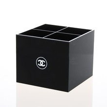 New Arrival 4 grid Acrylic storage box Black  Black Makeup Organizer Cosmetic Stand Cases(China (Mainland))