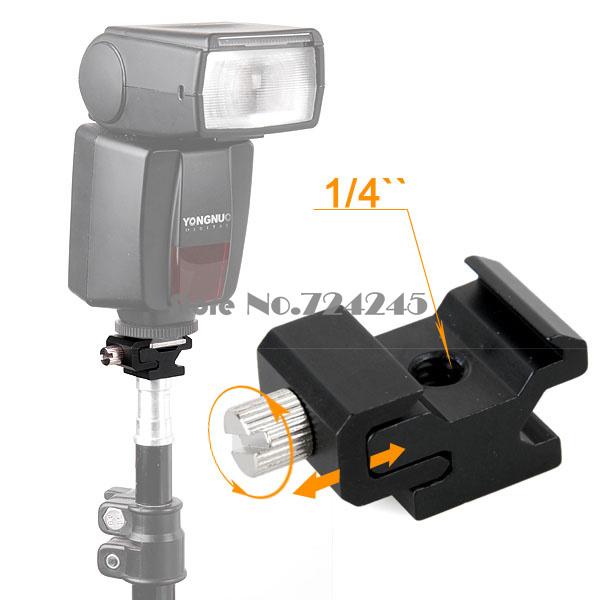 10Pcs Flash Hot Shoe Seat Cold Shoe Seat Block 1/4 Screws into Fit for Camera Tripod(China (Mainland))