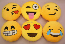Hot Cute Cry Smiley Facial Emoticon Round Cushion Soft Home Pillow Stuffed Plush Toy Oblong Pillow(China (Mainland))