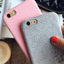 2016 Newest Plush Cases For iPhone 6 6S 6plus 7 7plus Dirt-Resistant Shockproof Protective Short Velvet Back Cover Phone Shell(China (Mainland))