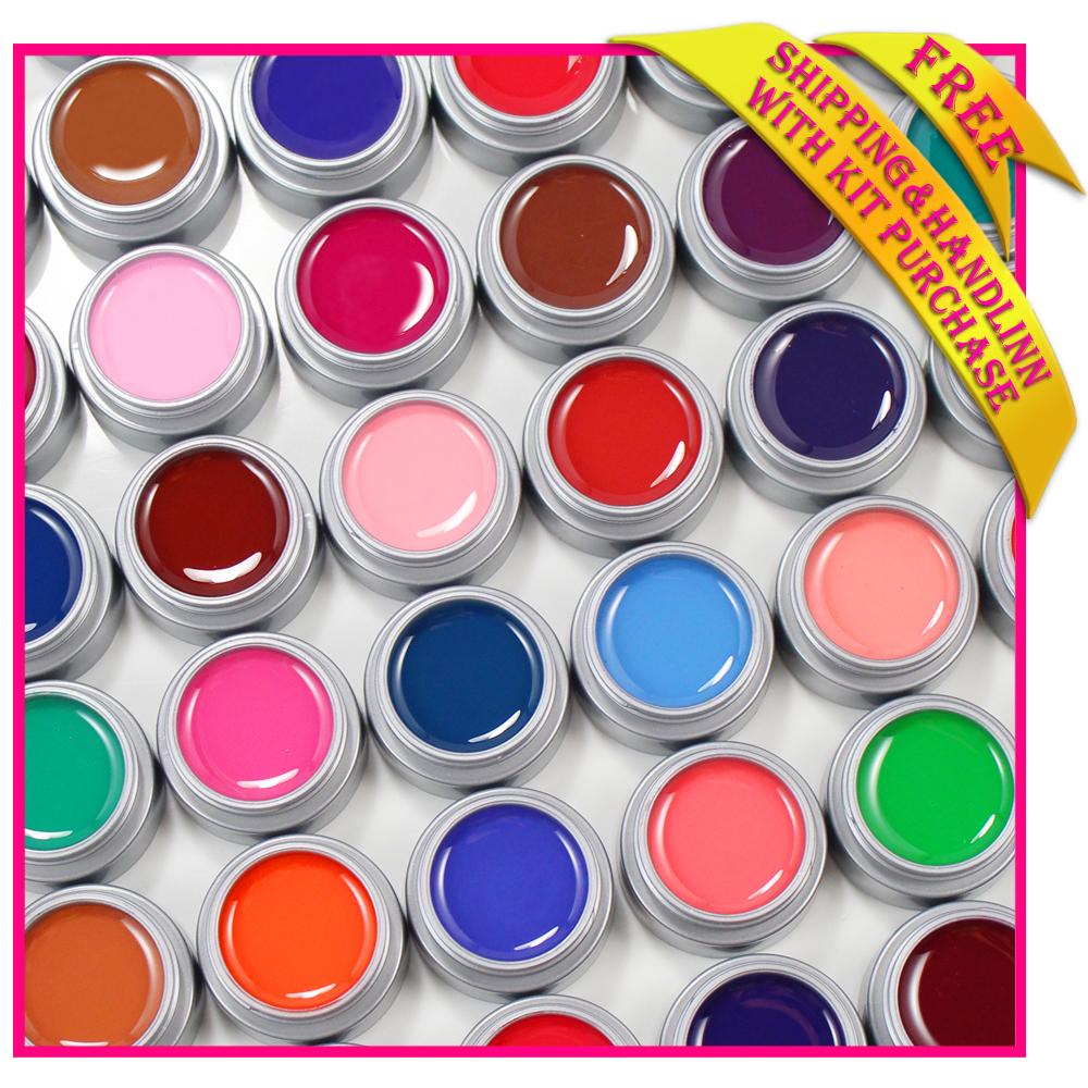 Free shipping colored uv gel nail polish set PURE ...