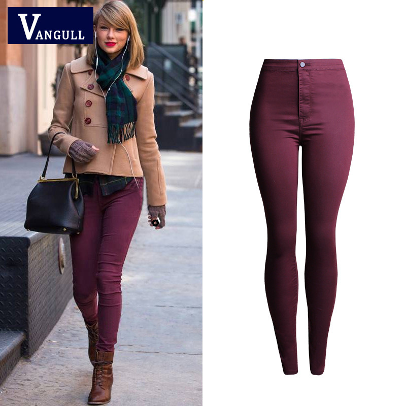 Perfect Dark Red Pants For Women Vanclfrontpleattaperedknit