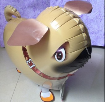 The new 2014 aluminum membrane balloon balloons to walk the dog The pet dog balloon toys wholesale and retail(China (Mainland))