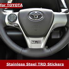 Buy TRD 3D Car Stickers Toyota TRD Toyota Steering Wheel Sticker TRD Metal Emblem Refit Badge Sticker Car Styling Accessories for $3.20 in AliExpress store