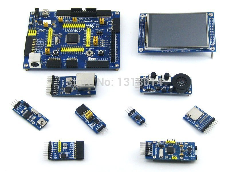 STM32 ARM Cortex-M3 Development Board STM32F107VCT6 STM32F107 + 8pcs Accessory Modules + Freeshipping=Open107V Package B(China (Mainland))