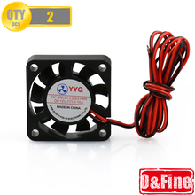 2 Pcs/Lot 3D printer Parts 40*40 DC 12V 0.1A Fan for MakerBot RepRap UP Mendel I3 Printer