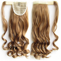 "Fashion Style Synthetic Wrap Around Invisable Long wavy Ponytail Extension Clip In on Hair Pony Tail Color 27# 22"", 90g,1pc"