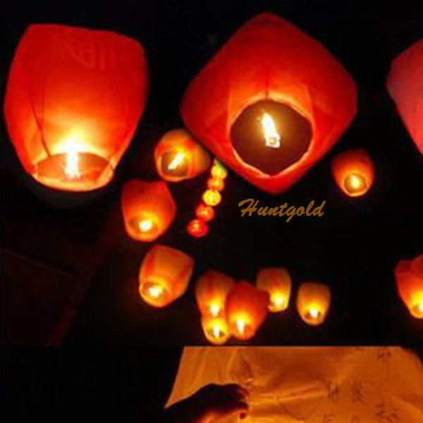 Pure Color Chinese Paper Sky Flying Lanter KongMing Lantern Lucky Wishing Glim(China (Mainland))