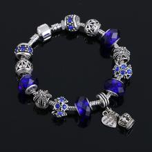 Charm bracelet  for Women DIY Crystal Beads Bracelets Pulseira Jewelry Gift(China (Mainland))