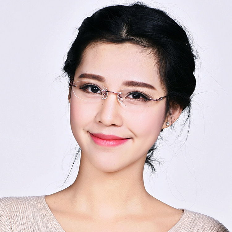 Rimless Eyeglass Frames 2015 : 2015-hot-rimless-titanium-eyeglass-frames-exquisite-ladies ...