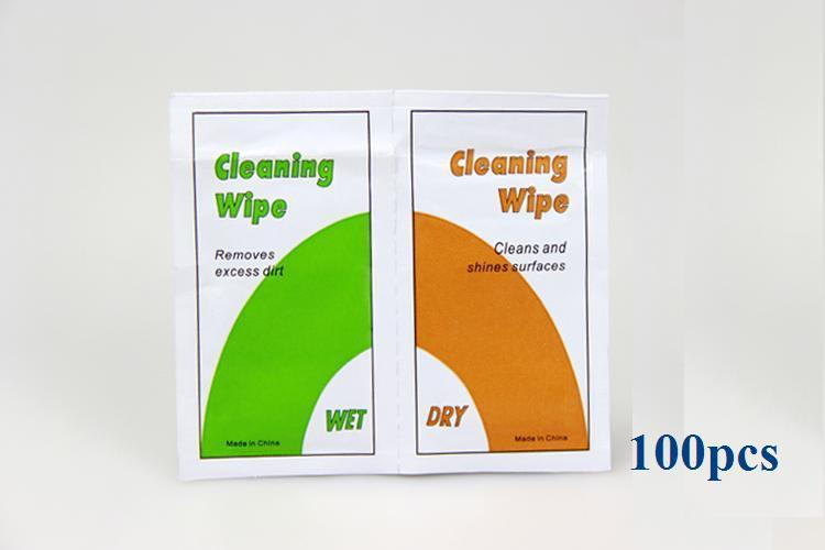 Tracking Number+100x Professional Camera Lens Cleaning Kit Wet + Dry Wipes Paper for Digital Camera Nikon Canon Lenses Clean(China (Mainland))
