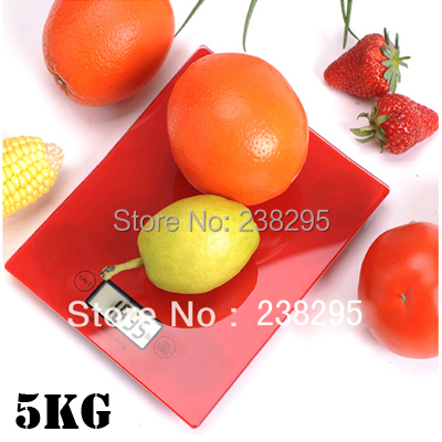 5kg digital electronic food scales diet cake tool bake glass square postal scales kitchen balance weight scales touch button(China (Mainland))